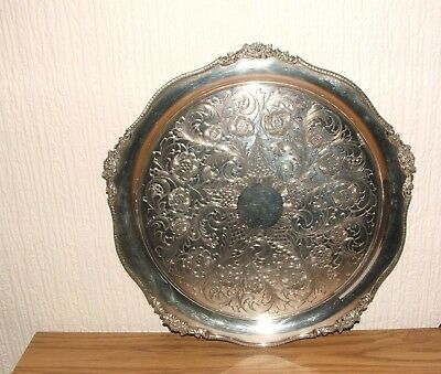 Vintage - Silver Plated - Alpha Plate - Chased - Drinks Tray - Tea Tray