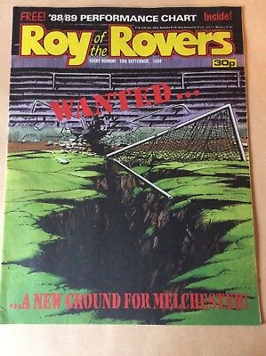 Roy of the Rovers Comic 10th September 1988 WITH FREE GIFT