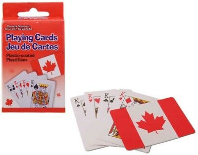 New-Canada Souvenir Plastic Coated Playing Cards #62082 (Fast Canadian Shipping)