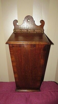 A FINE ANTIQUE EARLY 19th CENTURY GEORGIAN OAK CANDLE BOX