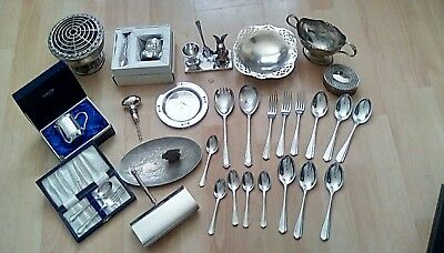 mixed joblot silver plate,EPNS and chrome