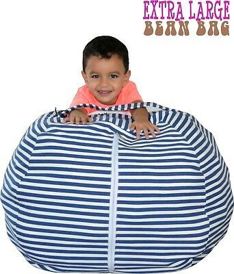 Marvelous Stuffed Animal Storage Bean Bag Chair 38 Extra Large Kids Squirreltailoven Fun Painted Chair Ideas Images Squirreltailovenorg