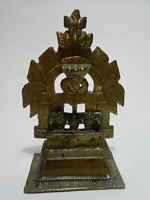 Antique 18th C Indian Asian Miniature Cast Bronze Snake Deity Temple Shrine