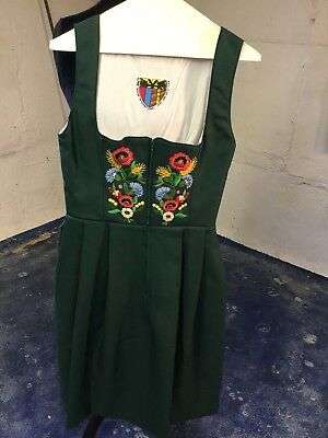 Green Dirndl Dress with Top and Apron 6/8