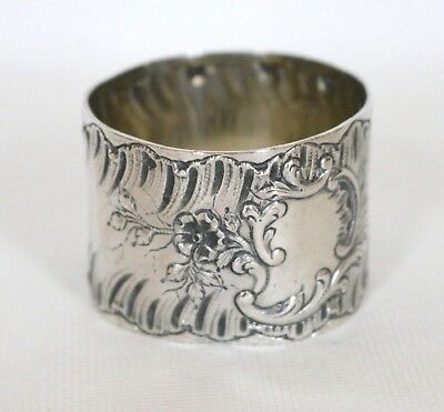 Antique French Sterling Silver Napkin Ring, Jean Francois Veyrat 1832-1840