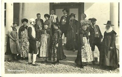 Walsertrachten Large Froup In Local Costumes 1932 Willy Zitzelsberger Real Photo
