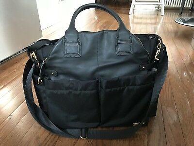 SKIP HOP Chelsea Downtown Chic Diaper Tote Bag  Black