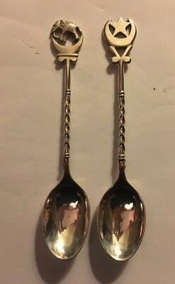 Two Silver Souvenir Spoons From Pakistan(?)