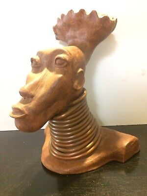 Vintage Art Sculpture African Neck Coils 1954
