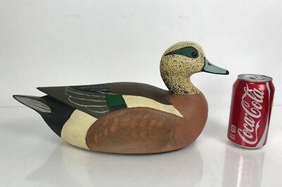 Vintage Antique Rare Signed Decorative Wood Carved Hand Painted Decoy Duck