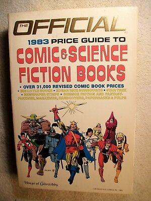 The Official 1983 Price Guide To Comic & Science Fiction Books