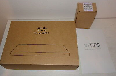 Cisco Meraki MR32 MR32-HW Dual-band 2x2 MIMO 802.11ac Access Point Cloud Managed