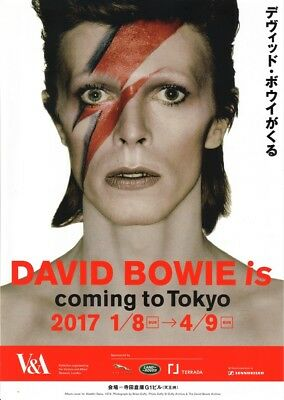 'DAVID BOWIE is'. 2017 V&A Tokyo Exhibition Guide/Flyer. A4 Poster Print. Mint.