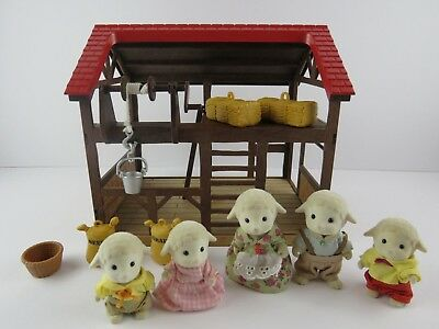 Sylvanian Families Highfields Barn with Dale Sheep Family and Accessories