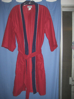 Men's VINTAGE Smoking Jacket Lounge Robe - One Size - Handsome Deep Red