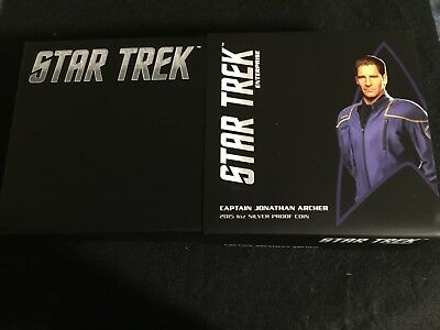 2015 STAR TREK CAPTAIN JONATHAN ARCHER - 1 oz. SILVER PROOF COIN -
