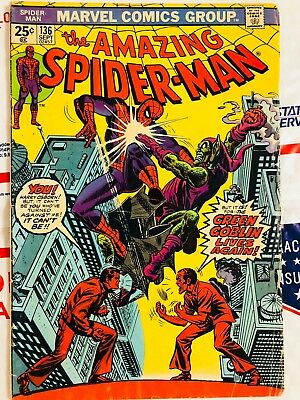 Amazing Spiderman 136! Green Goblin! Look at all my .99 books!