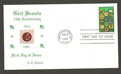 1987 US Girl Scouts 75th anniversary # 2251 FDC Doback 19B photo limited 16/30