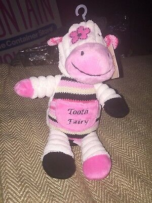 New NWT Maison Chic Daisy the Cow Tooth Fairy Pillow Plush