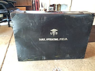Vintage Military Portable Field Operating Table With Original Case