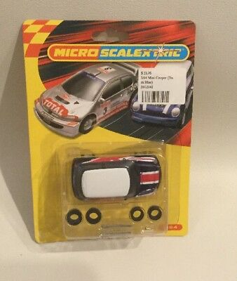 scalextric slot cars Micro - 1/64 Mini Cooper Dark Blue