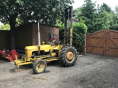Leyland 154 Compact Tractor Forklift Loader Machine Digger Builder Nuffield 425