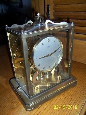 Antique Schatz 1000 Day Brass Clock With Glass and Brass Cage