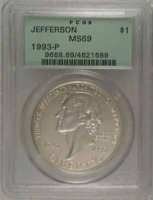 1993	P	Jefferson $1 Old Green Label 	Ms69