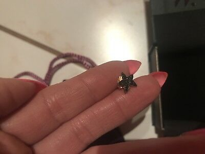 DODO STARFISH BLACK DIAMOND OHRSTECKER ROSEGOLD 9Kt NEU