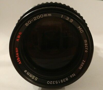 Albinar ADG 80-200mm f/3.9 MC Macro Zoom Lens for Nikon Pre-Owned with case