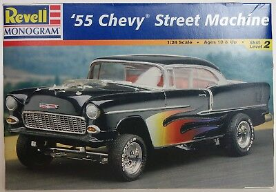 Vintage Revell Monogram '55 Chevy Street Machine Model New 1/24 Scale Classic