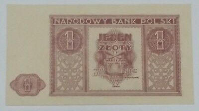 Poland 1 Zloty 1946. P-23. @UNC but with bent corner and crease. Sharp corners