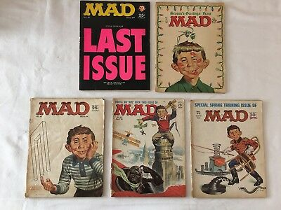 Mad Magazines Lot of 5 Comics Vintage Issues * From 1964/ 65 * # 91,92,93,94,95