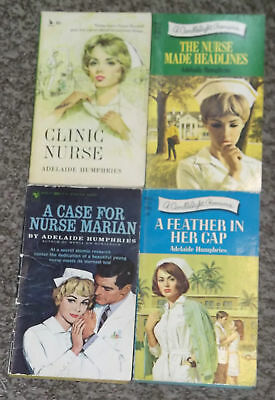 LOT OF 4 ADELAIDE HUMPHRIES NURSE / DOCTOR  ROMANCE  BOOKS VINTAGE 1960's #13