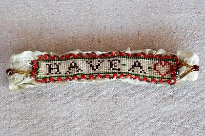 Antique Beaded Garter Have A Heart ❤️ Bridal Old Wild West Costume Prostitute