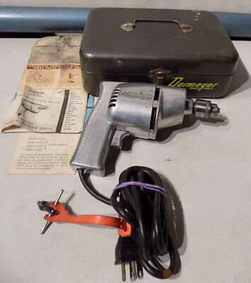 """Vintage Dormeyer Corded Electric 1/4"""" Drill 5-2400 2.6Amp Jacobs Chuck Works *nr"""