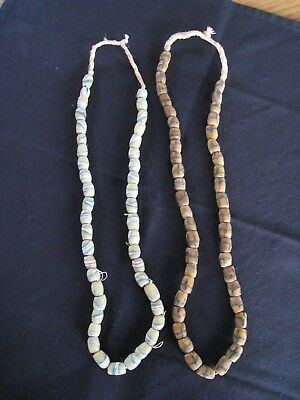 Lot of 2 Vintage & Antique Native American Indian Trade Bead Necklaces -Group 2