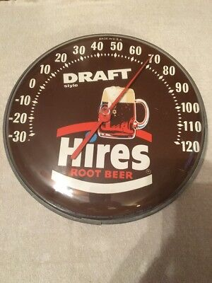 """Hires Root Beer Advertising Thermometer Sign 12"""""""