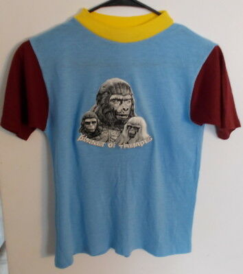 MUST SEE VINTAGE CHILDS SIZE PLANET OF THE APES T-SHIRT 1970s