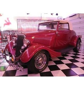 1934 Ford Other COUPE Ford 1934 Custom Coupe Convertible w/Porsche leather interior BEAUTIFUL CAR