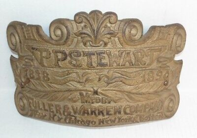 Antique Fuller & Warren Co Stove Plate P P Stewart Steampunk