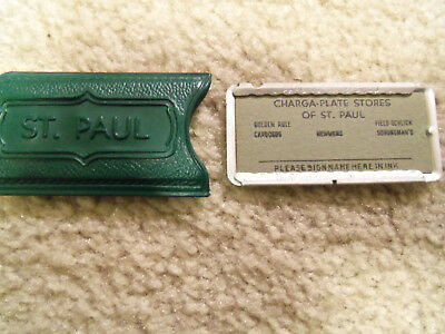 Vintage Charga -Plate Credit Card  St. Paul  Mn Stores