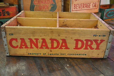 Vintage Canada Dry 1960 Soda Wood Crate