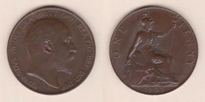 Great Britain One Penny 1907 - Xf ---  Gbbc