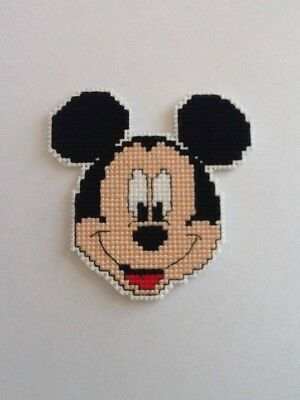 Handmade Completed Cross Stitch Magnet - Mickey Mouse