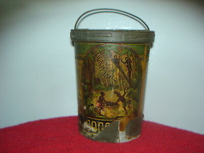 RARE ANTIQUE 1880's DUNHAM'S CONCENTRATED NUT TIN CAN - BLACK AMERICANA VINTAGE