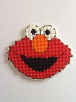Handmade Completed Cross Stitch Magnet - Elmo