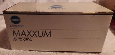 MINOLTA AF 70 210mm F4 beercan ZOOM LENS MAXXUM SONY A MOUNT WITH BOX