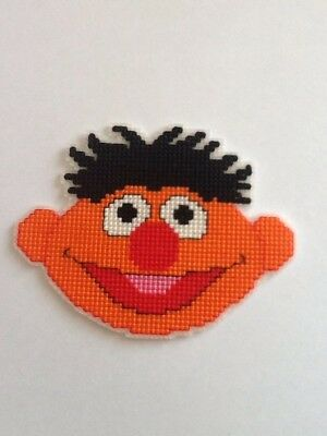 Handmade Completed Cross Stitch Magnet - Ernie