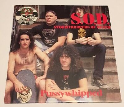 S.O.D. Stormtroopers of Death Pussywhipped Bootleg LP thrash skate rock